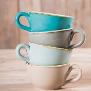 MilchkaffeeTasse OLIVE, Grün & Form