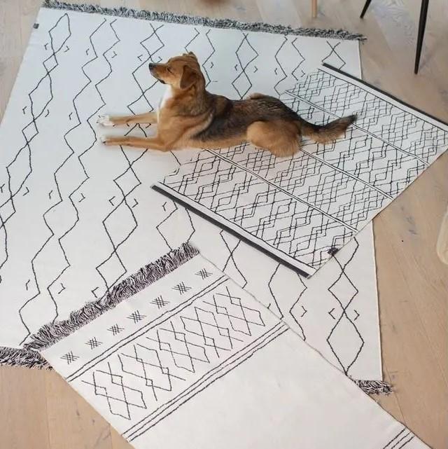 Teppich BERBER 75/150cm mit Fransen